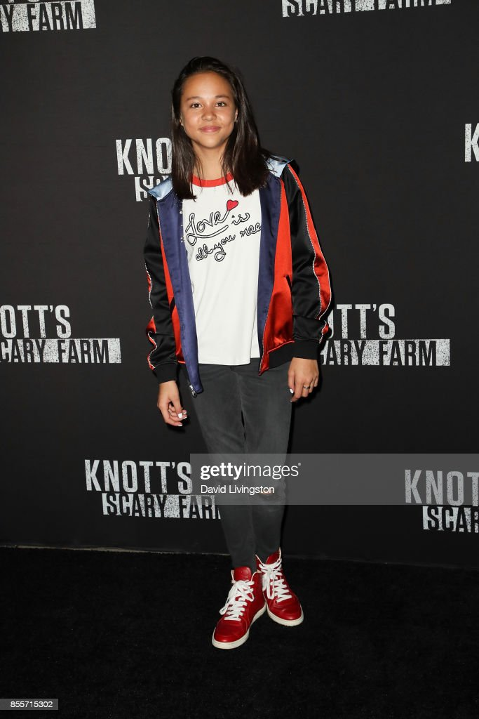 Breanna Yde attends the Knott's Scary Farm and Instagram's Celebrity Night at Knott's Berry Farm on September 29, 2017 in Buena Park, California.