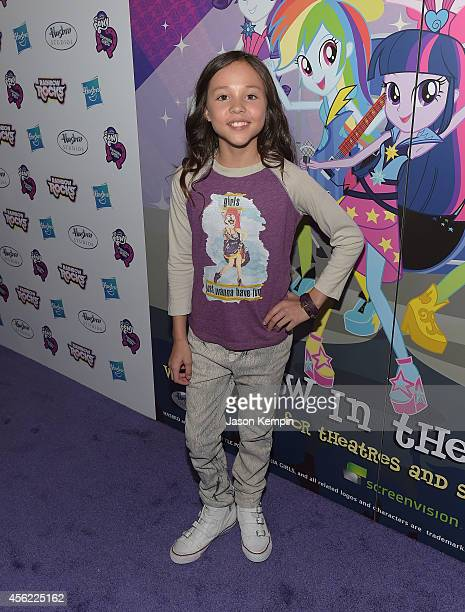 Breanna Yde attends the premiere of My Little Pony Equestria Girls Rainbow Rocks at TCL Chinese Theatre on September 27 2014 in Hollywood California