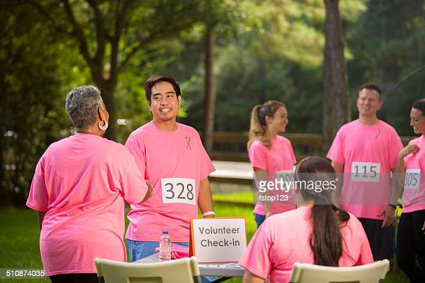 Breast Cancer Awareness volunteers prepare for local event.