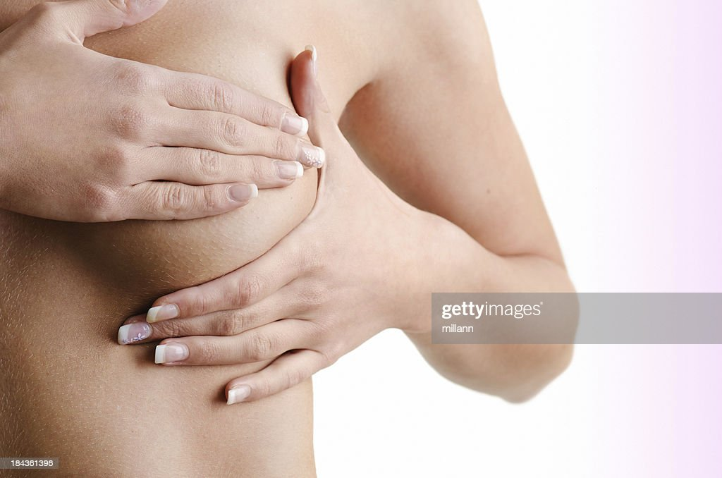 Breast cancer exam : Stock Photo