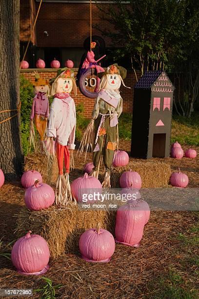 Breast Cancer halloween display