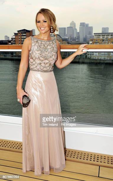 Breast Cancer Haven ambassador and popstar Kimberley Walsh on board the luxury yacht Seabourn Sojourn for the Charity's 10th Anniversary party