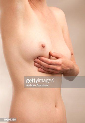 Breast self examination : Stock Photo