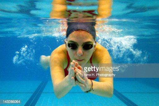 Breaststroke under water