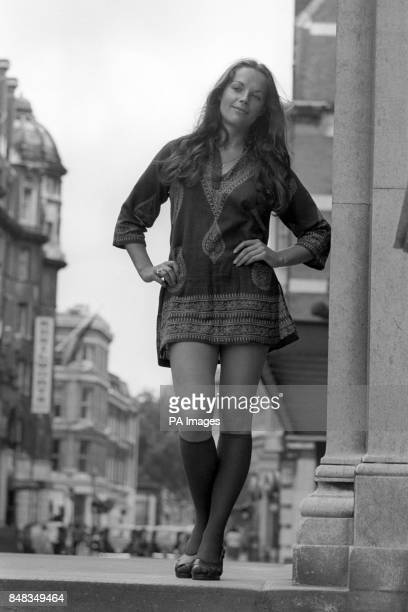 A breath of London air for actress Mary Tamm during a break in rehearsals for an American antipollution musical Mother Earth at the Roundhouse in...