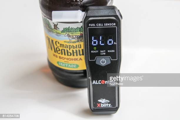 Breathalyzer is seen on 27 June 2017 in Gdansk Poland The police is stopping fewer drivers for drunk driving in Poland Still in 2010 142 thousand...