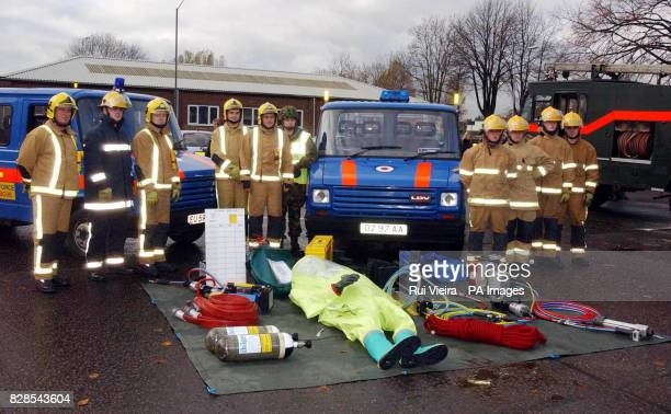 Breathing Apparatus Rescue Team and Rescue Equipment Support Team show their equipment at Chilwell barracks Nottingham in preparation to take over...