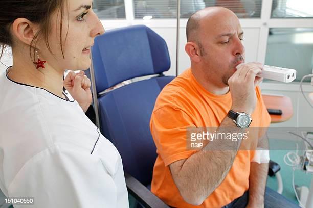 Breathing Spirometry In A Man