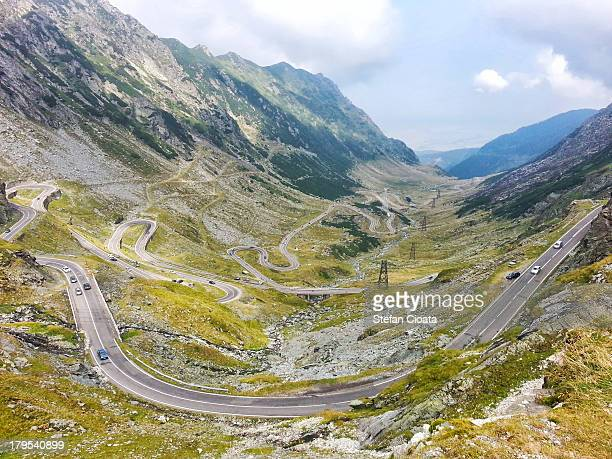 Breathtaking view of Transfagarasan alpine road  