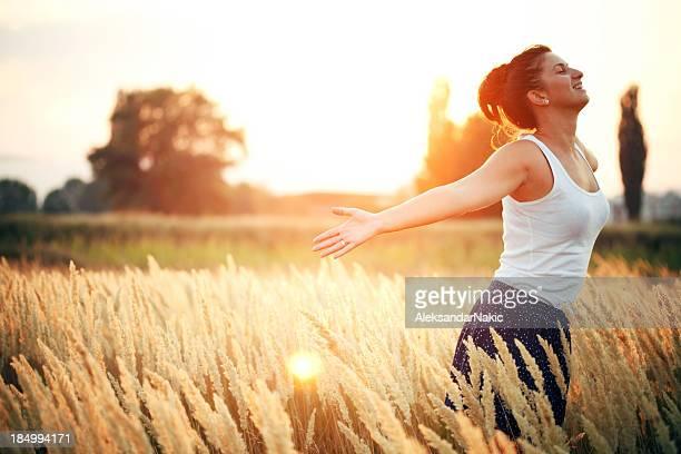Breating fresh air