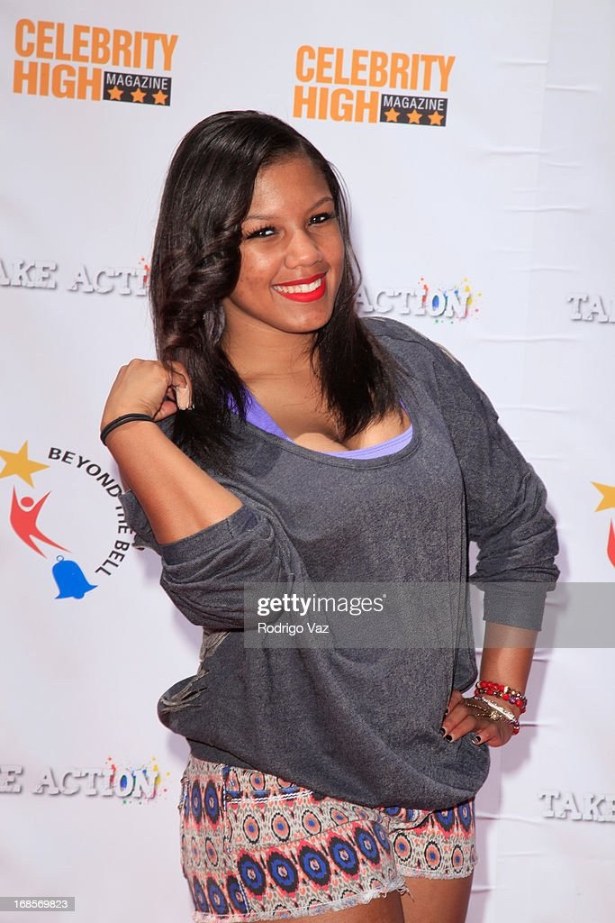 Breaunna Womack aka Miss Babydoll of OMG Girlz arrives at LAUSD's Beyond the Bell Branch and Nick Cannons Celebrity High Present 'Spotlight On Success' at Paramount Studios on May 11, 2013 in Hollywood, California.