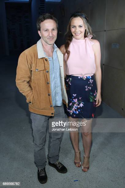 Breckin Meyer and Alicia Silverstone attend the Cinespia Presents 'Clueless' At The Hollywood Forever Cemetery at Hollywood Forever on May 28 2017 in...