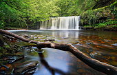 Sgwd Ddwli Isaf waterfall in the Brecon Beacons South Wales,UK