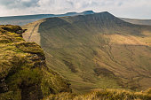 The Brecon Beacons, taken from Fan y Big, South Wales.