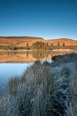 Brecon Reservoir on a cold winters morning.