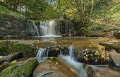 A beautiful waterfall, captured in the Brecon Beacons, Powys, Wales, UK. ND filters were used in this image to give the milky effect to the water.
