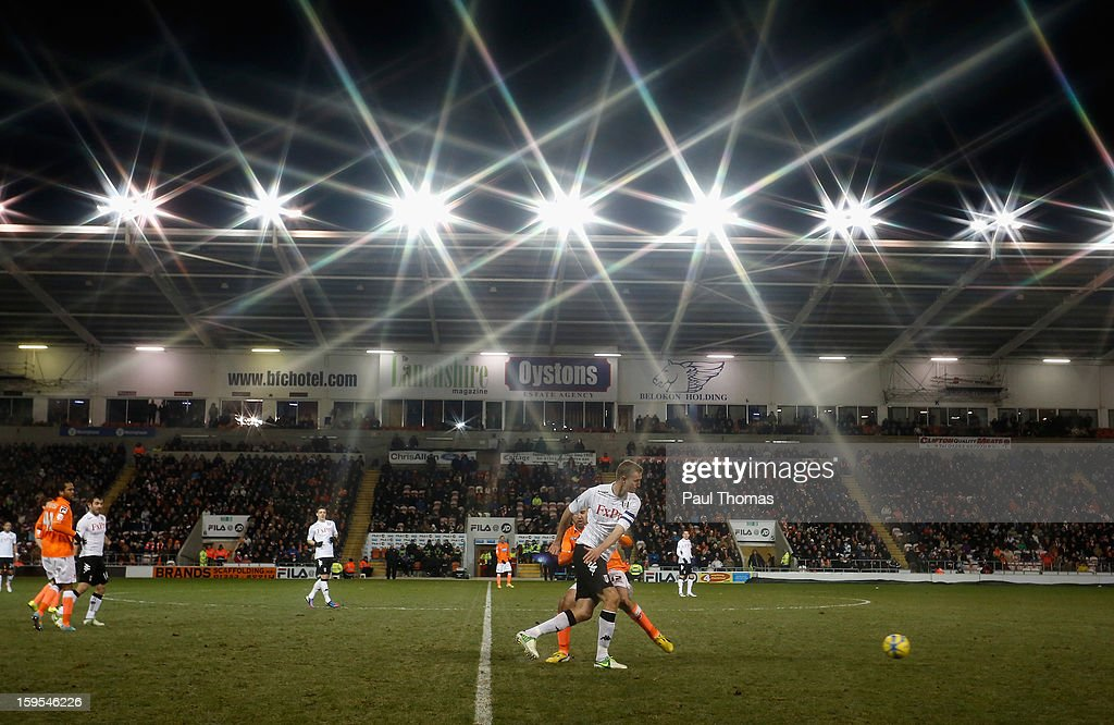 <a gi-track='captionPersonalityLinkClicked' href=/galleries/search?phrase=Brede+Hangeland&family=editorial&specificpeople=618174 ng-click='$event.stopPropagation()'>Brede Hangeland</a> of Fulham competes with Gary Taylor-Fletcher of Blackpool during the FA Cup with Budweiser Third Round Replay match between Blackpool and Fulham at Bloomfield Road on January 15, 2013 in Blackpool, England.