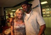 Bree Olson and DJ Whoo Kid visit DJ Whoo Kid's Hollywood Shuffle at the SiriusXM Studio on July 23 2011 in New York City