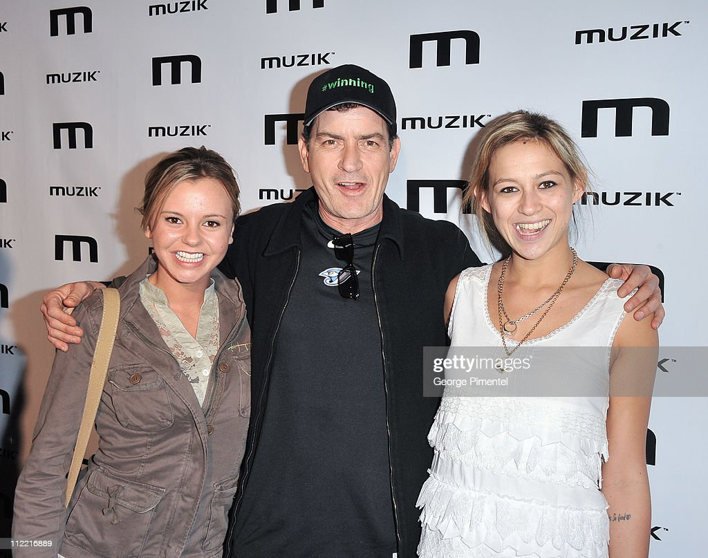Bree Olson Charlie Sheen and Natalie Kenly attend the official afterparty for his 'Torpedo of Truth' tour at Muzik on April 14 2011 in Toronto Canada