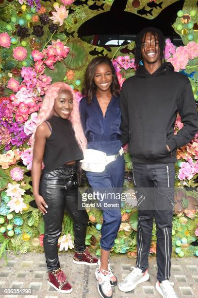 Bree Runway Leomie Anderson and friend attendNick Grimshaw's Sexy Brunch at Sexy Fish on May 21 2017 in London England