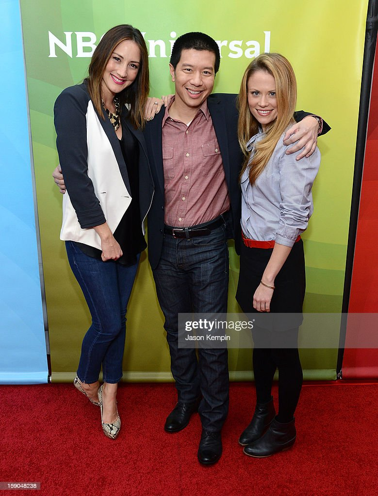 Bree Turner, Reggie Lee and Claire Coffee attend NBCUniversal's '2013 Winter TCA Tour' Day 1 at Langham Hotel on January 6, 2013 in Pasadena, California.