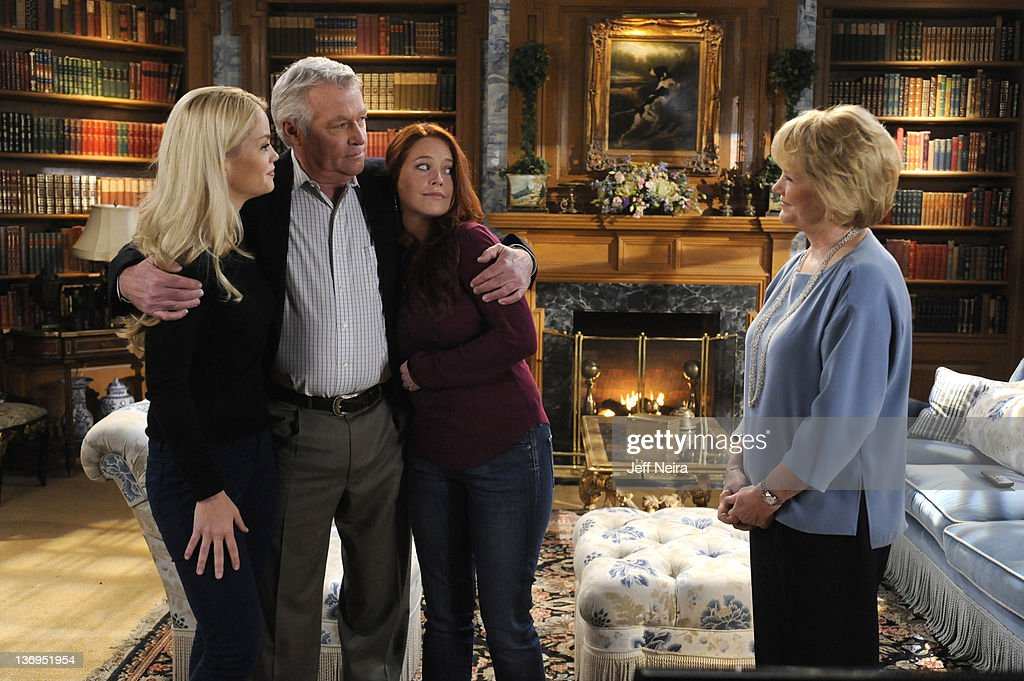 LIVE - Bree Williamson (Jessica), Jerry verDorn (Clint), Melissa Archer (Natalie) and Erika Slezak (Viki) in a scene that airs the week of January 9, 2012 on ABC Daytime's 'One Life to Live.' 'One Life to Live' airs Monday-Friday (2:00 p.m. - 3:00 p.m., ET) on the ABC Television Network. BREE WILIAMSON, JERRY verDORN, MELISSA