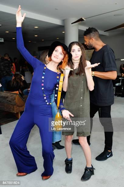 Breeda Wool Genevieve Buechner and Jeffrey BowyerChapman attend Kari Feinstein's Style Lounge presented by Ocean Spray on September 15 2017 in Los...