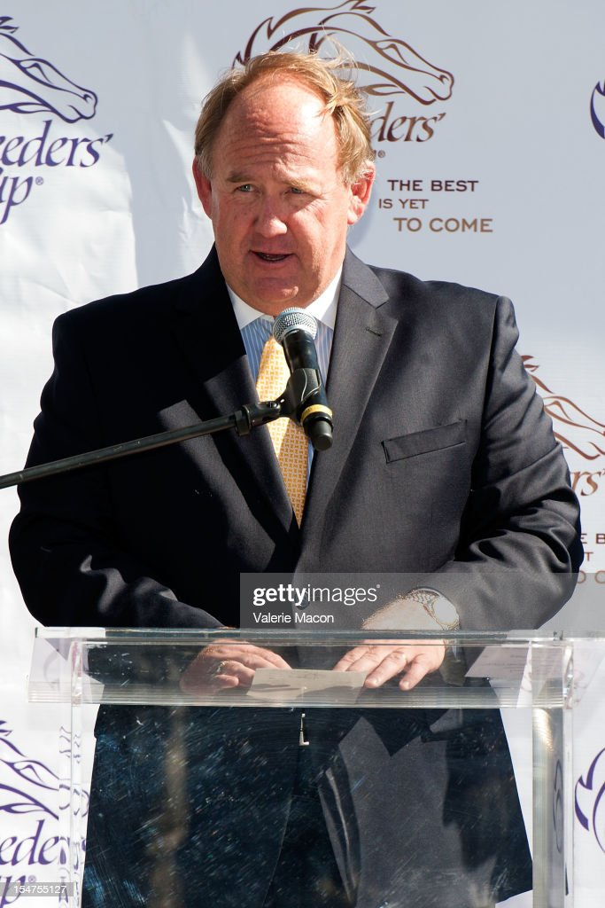 Breeders' Cup COO Bob Elliston attends the Breeders' Cup Press Conference at Nokia Plaza L.A. LIVE on October 25, 2012 in Los Angeles, California.
