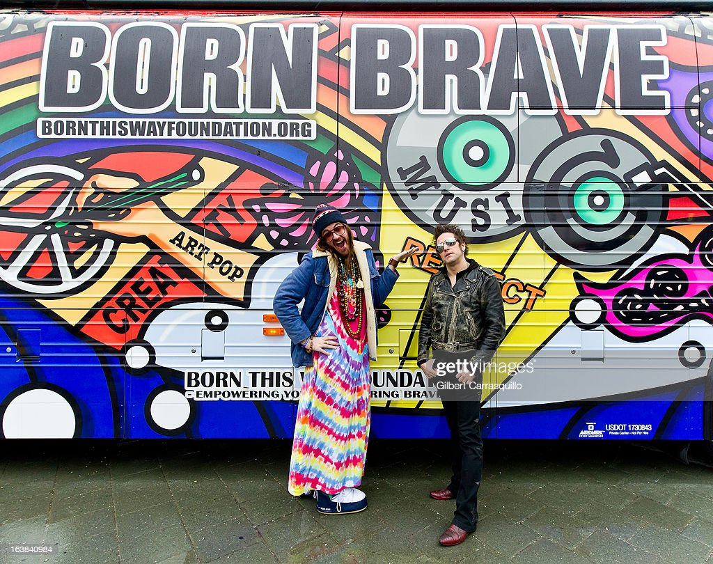 Breedlove and Tommy London of The Dirty Pearls attend Lady Gaga's Born This Way Bus Tour at Philadelphia Museum of Art on March 16, 2013 in Philadelphia City.