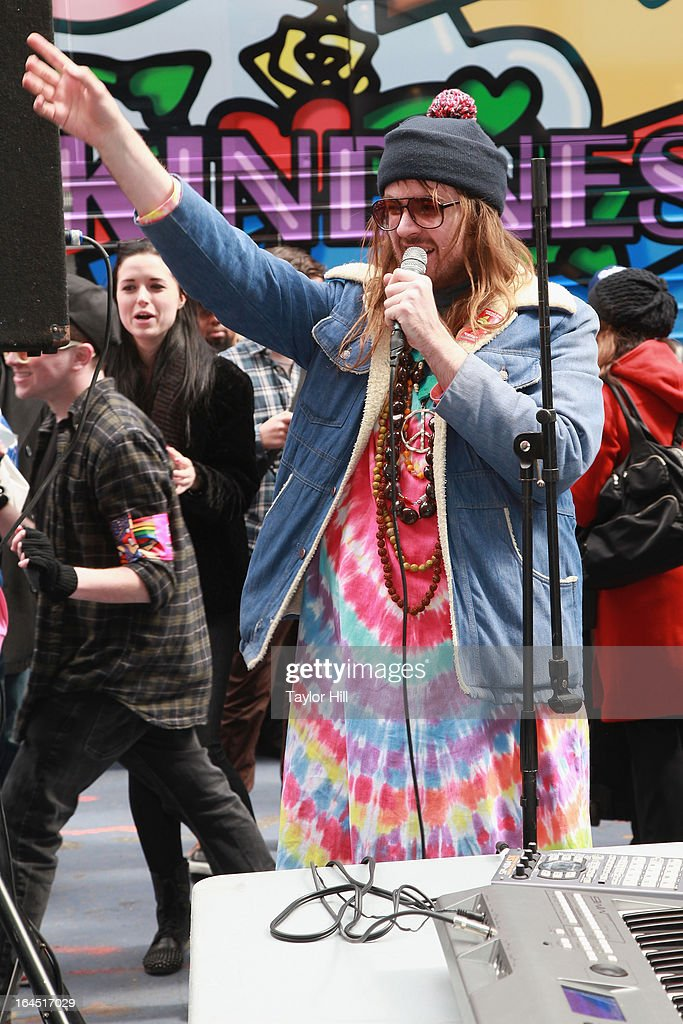 Breedlove performs during Lady Gaga's Born Brave Bus Tour in Times Square on March 23, 2013 in New York City.