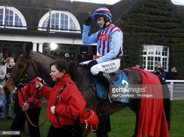 Breedsbreeze and Ruby Walsh return after victory in The Anglo Irish Bank Tolworth Hurdle at Sandown Park Racecourse Surrey