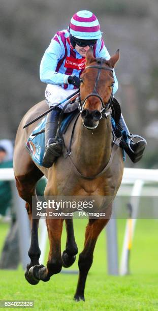 Breedsbreeze and Ruby Walsh win The Anglo Irish Bank Tolworth Hurdle at Sandown Park Racecourse Surrey