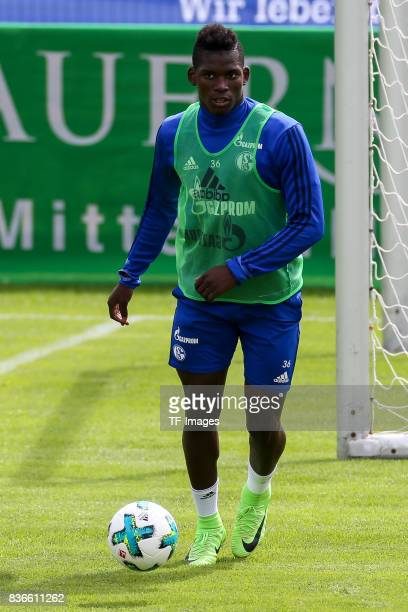 Breel Embolo of Schalke controls the ball during the Training Camp of FC Schalke 04 on July 27 2017 in Mittersill Austria