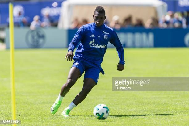 Breel Embolo of Schalke controls the ball during the Training Camp of FC Schalke 04 on July 29 2017 in Mittersill Austria