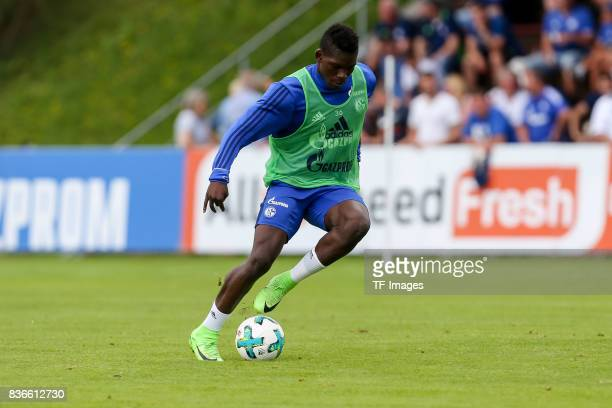 Breel Embolo of Schalke controls the ball during the Training Camp of FC Schalke 04 on July 30 2017 in Mittersill Austria