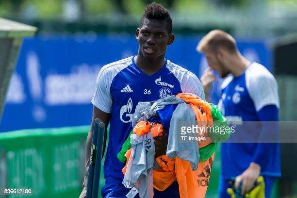 Breel Embolo of Schalke looks on during the Training Camp of FC Schalke 04 on July 29 2017 in Mittersill Austria