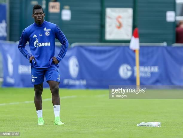 Breel Embolo of Schalke looks on during the Training Camp of FC Schalke 04 on July 30 2017 in Mittersill Austria