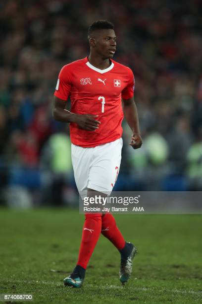 Breel Embolo of Switzerland during the FIFA 2018 World Cup Qualifier PlayOff Second Leg between Switzerland and Northern Ireland at St JakobPark on...
