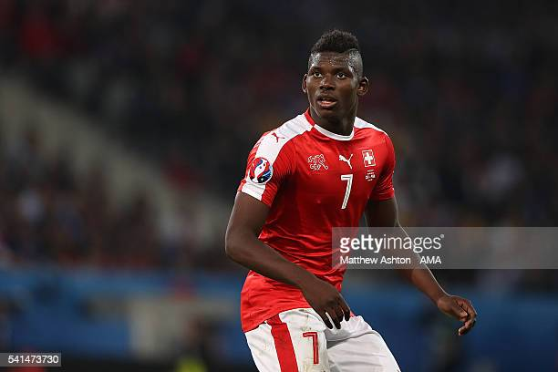 Breel Embolo of Switzerland in action during the UEFA EURO 2016 Group A match between Switzerland and France at Stade PierreMauroy on June 19 2016 in...