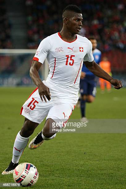 Breel Embolo of Switzerland runs with the ball during the international friendly match between Switzerland and the United States at Stadium...