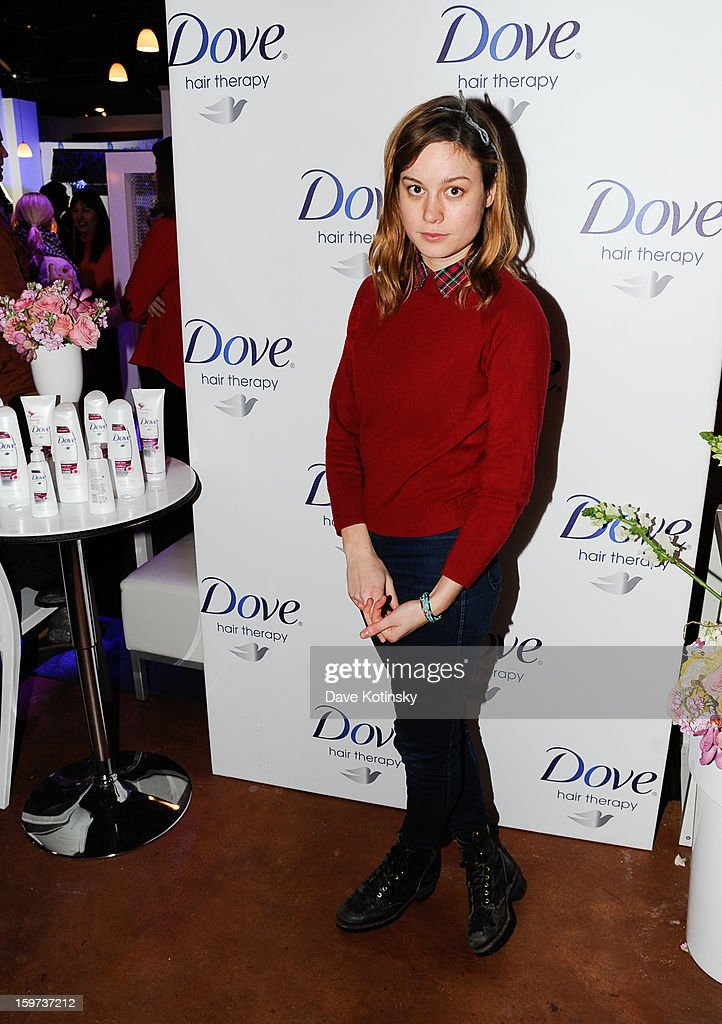 Brei Larson stops by the Dove Color Care Salon on January 19, 2013 in Park City, Utah.