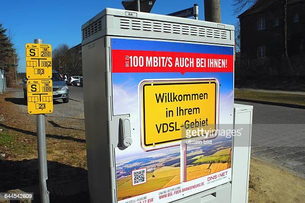 Breitband fuer Brandenburg Schaltschrank in Biesenthal bei Lanke