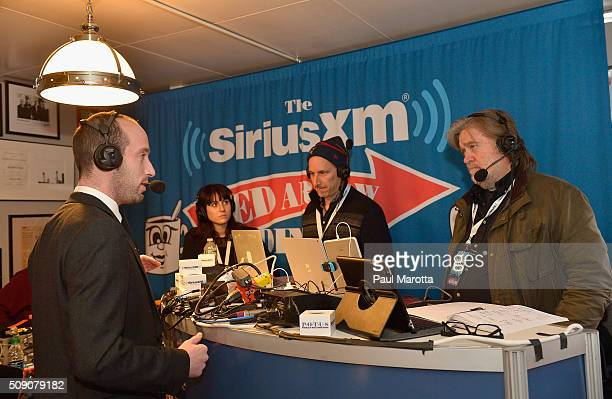 Breitbart News Daily Stephen K Bannon interviews Donald Trump Senior Advisor Stephen Miller for SiriusXM Broadcasts' New Hampshire Primary Coverage...