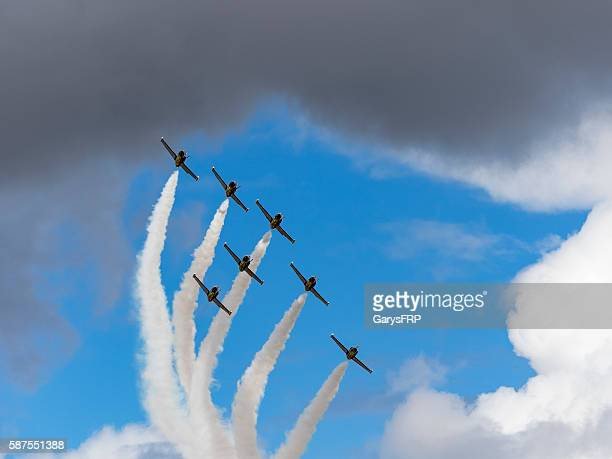 Breitling Jet Team Flying Air Show cloudy sky Hillsboro Oregon