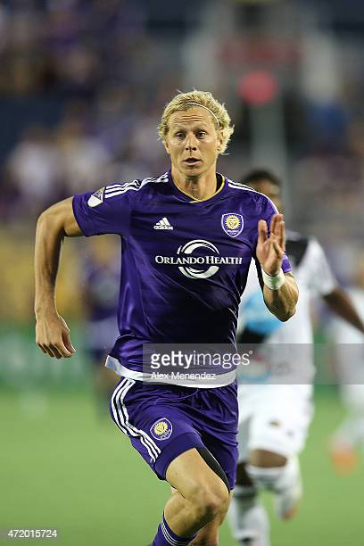 Brek Shea of Orlando City SC is seen during an international friendly soccer match between Brazil's Ponte Preta and the Orlando City SC at the...