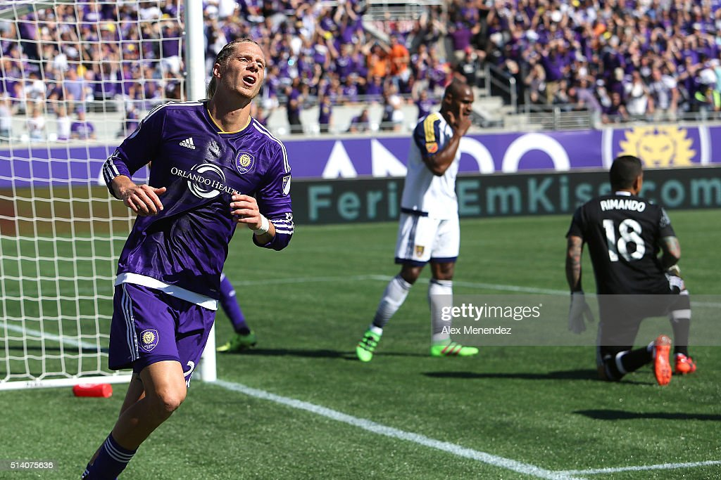 Brek Shea #20 of Orlando City SC shows his frustration after missing a shot on goal during a MLS soccer match between Real Salt Lake and the Orlando City SC at the Orlando Citrus Bowl on March 6, 2016 in Orlando, Florida. The game ended in a 2-2 draw.