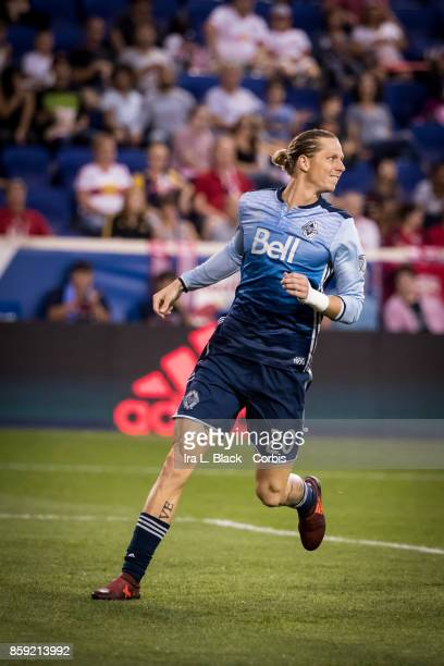 Brek Shea of the Vancouver Whitecaps FC during the MLS match between New York Red Bulls and Vancouver Whitecaps FC at the Red Bull Arena on October...