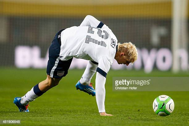 Brek Shea of USA in action during the International friendly match between Austria and USA at the ErnstHappel Stadium on November 19 2013 in Vienna...