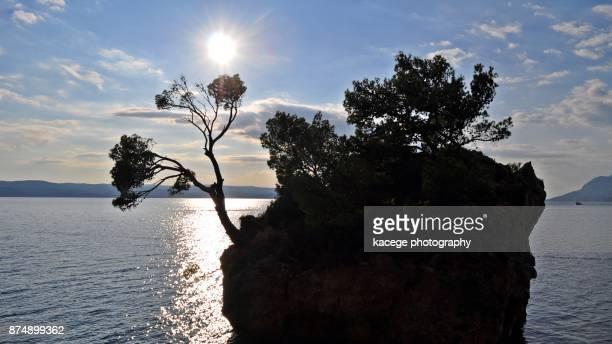 Brela rock at sunset, Dalmatia