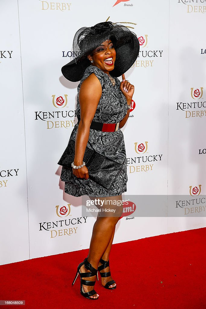 Brely Evans attends 139th Kentucky Derby at Churchill Downs on May 4, 2013 in Louisville, Kentucky.